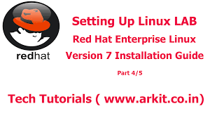setting up linux lab red hat enterprise linux 7 installation arkit