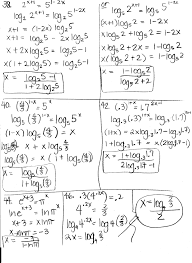 exponential equations worksheet with answers