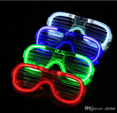 party sunglasses with lights 2018 led light glasses flashing shutters shape glasses led flash