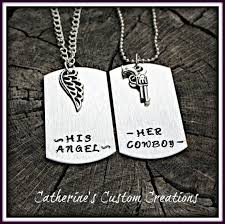 his and hers dog tags cowboy and his cowboy his angel couples dog tag set in