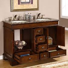 Hooker Bathroom Vanities by Silkroad Exclusive Baltic Brown Granite Top Double Sink Bathroom