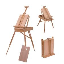 homcom folding wood artists easel set portable painters