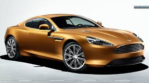 golden cars 2011 aston martin virage front side view in golden wallpaper