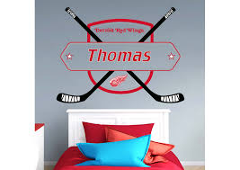 detroit wings personalized name wall decal shop fathead for