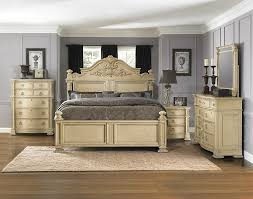 white washed bedroom furniture beige wood bed frame no headboard
