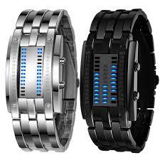 mens bracelet digital images Multi function men 39 s watch luxury stainless steel band led digital jpg