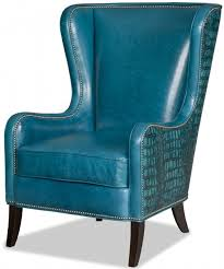 Blue Leather Armchair Bradingto Young Furniture Teal Blue Leather Club Chair Photo 88