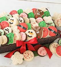 cookie basket frosted cookie basket