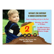 personalized construction birthday boy invitations