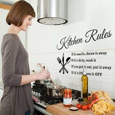 Dining Room Decals Aliexpress Com Buy Diy Kitchen Wall Stickers Kitchen Rules Home