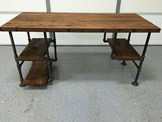 Pipe Desk Extra Thick Pipe Reclaimed Wood Desk Industrial Desk by Pipe Desk Extra Thick Pipe Reclaimed Wood Desk Industrial Desk