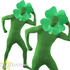 four leaf clover costume shamrock fancy dress skin suit st