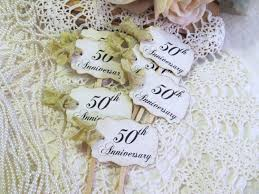 50th wedding anniversary party favors golden 50th anniversary cupcake toppers party picks or favor