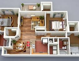 80 Best 3d Floor Plans Images On Pinterest Architecture Floor House Plan Designs In 3d