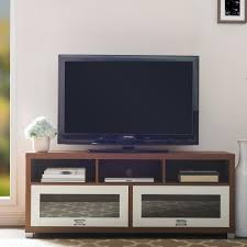 tv stand glass doors altra furniture englewood cinnamon cherry storage entertainment