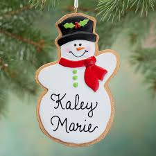 personalized snowman christmas cookie ornament miles kimball