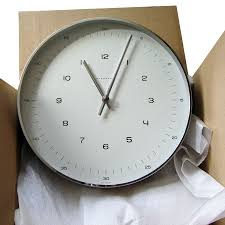 Wall Clock Max Bill White Wall Clock With Numbers Open Box Floor Sample