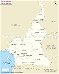 map of cameroon cameroon mineral map resources of cameroon