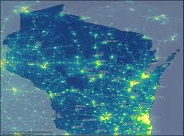 State Of Wisconsin Map by Nighttime Light In The State Of Wisconsin Clean Wisconsin