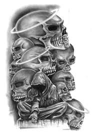 gansta skulls skulls by nusho skulls and bones