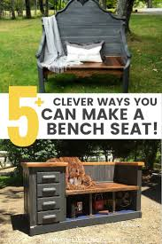 repurposing furniture 5 upcycled bench ideas from repurposed furniture u2022 grillo designs