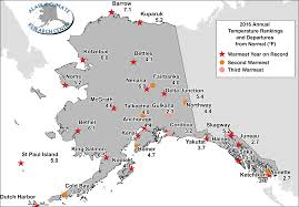 Dutch Harbor Alaska Map by 2016 Annual Statewide Summary Alaska Climate Research Center