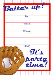 Party Invitation Card Template Free Printable Baseball Party Invitation Party Printables