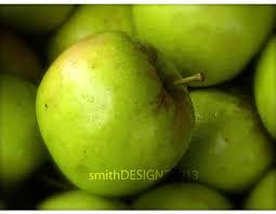 Green Apple Kitchen Accessories - kitchen decor green apple original oil by desertvalleystudio