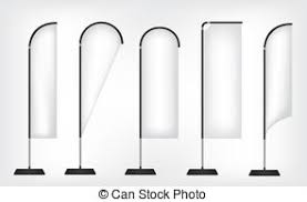 clipart vector of stand banner template a rolup display with