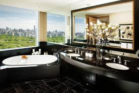 Bathroom Design Nyc by Interior Design Style Room Bathroom Shell Bath Tiles Black Mirror