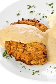 garlic ranch chicken fried steak with buttermilk gravy kitchme