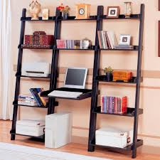 Leaning Ladder Bookcases by Leaning Bookcase For Desk Roselawnlutheran