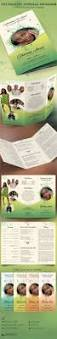 decorative tri fold funeral program template is for a modern