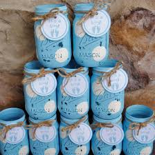 jar baby shower centerpieces jar centerpieces baby shower centerpieces blue and