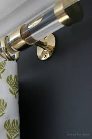 Window Rods For Curtains Acrylic Curtain Rods With Brass Hardware Driven By Decor