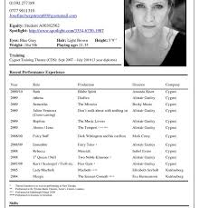 Audition Resume Template Free Acting Resume Samples And Examples Ace Your Audition With