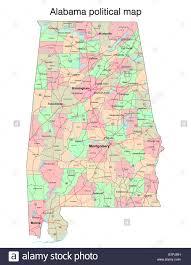 Map Alabama Alabama State Political Map Stock Photo Royalty Free Image