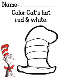 cat in the hat printable coloring pages inside cat in the hat