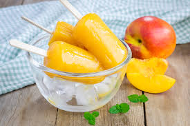cool sweet peaches and cream popsicles dairy free