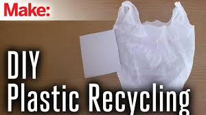recycle plastic bags into plastic sheets youtube