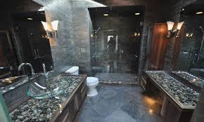rock flooring bathroom