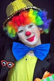 Halloween Costumes Kids Scary Clown Clown Makeup Kids Costume Colorful Wig Diy Halloween Costume Ideas
