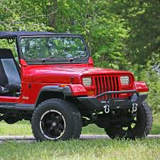 jeep wrangler front drawing tuff stuff rock crawler front bumper with winch mount for 1987