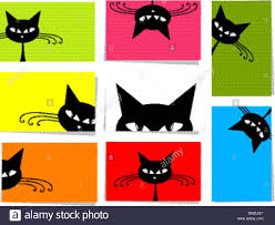 Pics For Gt Funniest Text - set of funny cats 10 cards for your design with place for your