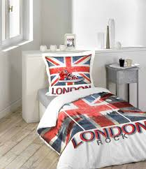 chambre london ado fille housse de couette 140x200 cm london rock drapeau anglais