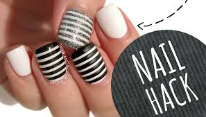nail hack cheat your way to perfect stripe nails youtube