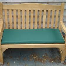 green bench cushion warwick 1 2m fsc certified teak memorial bench
