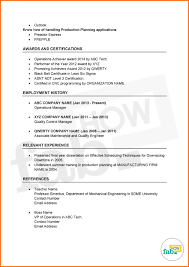 Resume Employment History Sample by How To Make An Outstanding Resume Get Free Samples