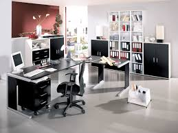 At Home Office Desks by Office Modern Style Home Office Furniture With Light Grey Wall