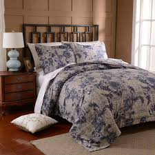 free bigdeal 3pcs duvet cover set microfiber luxury printed navy blue include quilt cover pillow cases twin queen king in bedding sets from home